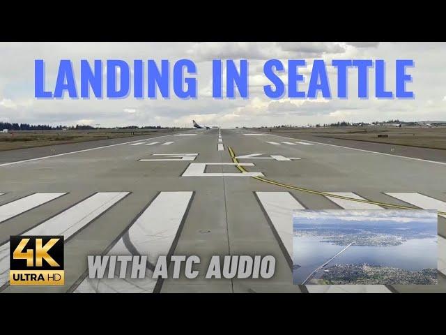 [REAL ATC] [4K] Landing at SeaTac (Seattle Tacoma) Airport w/ LIVE Air Traffic Control audio/CC