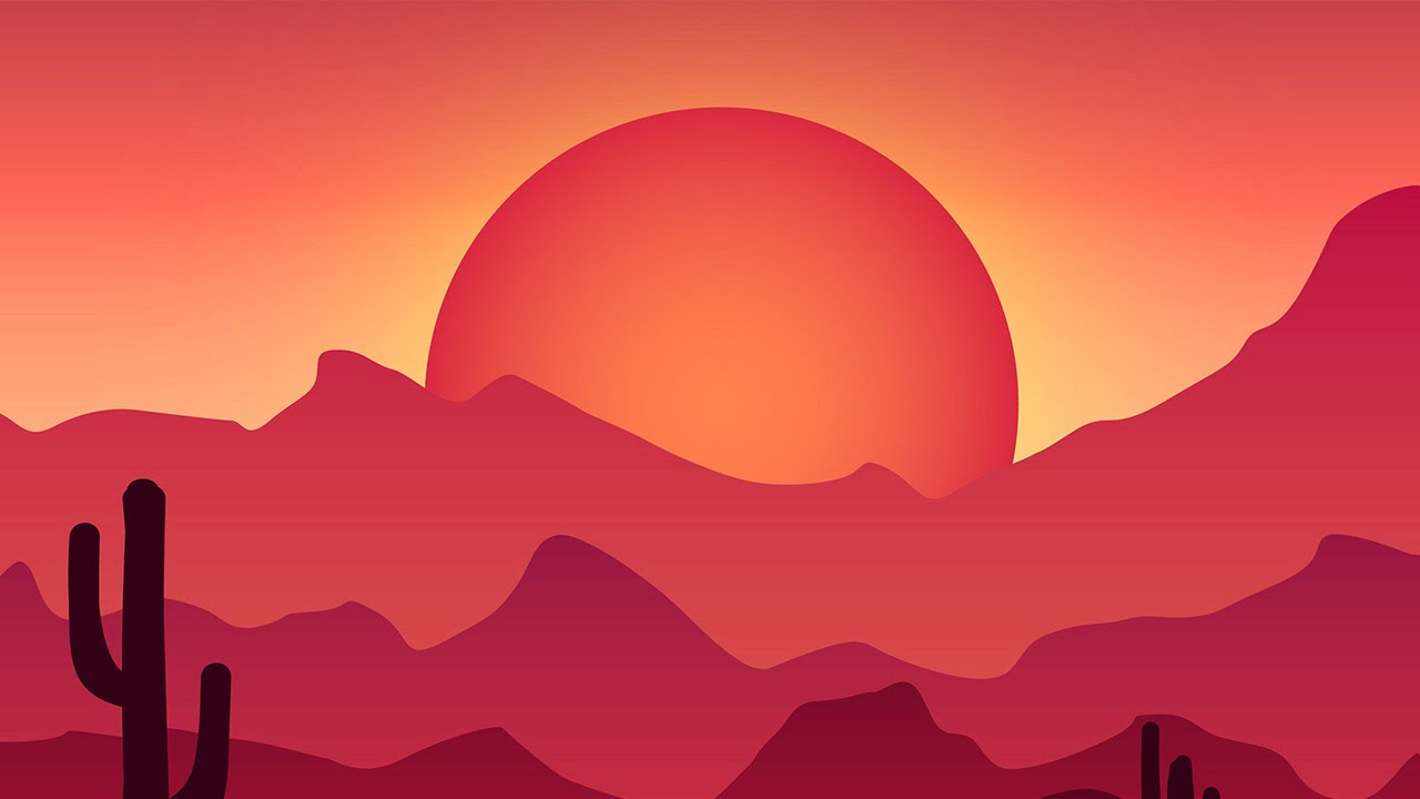 [Tutorial Link] How To Create A Colorful Vector Landscape