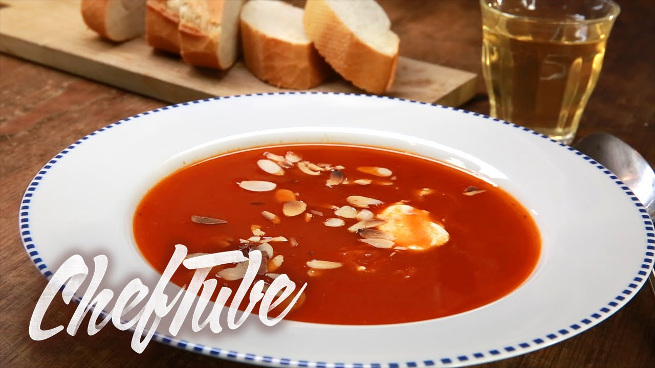 comment faire une soupe de tomates recette dans la description youtube. Black Bedroom Furniture Sets. Home Design Ideas