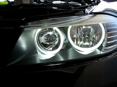 bmw 3er e90 lci halogenscheinwerfer auf led umger stet youtube. Black Bedroom Furniture Sets. Home Design Ideas