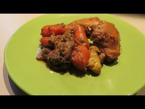 Бедрышки куриные с овощами в мультиварке
