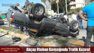Otoban Kavşağında Kaza 2 Kişi Yaralandı!