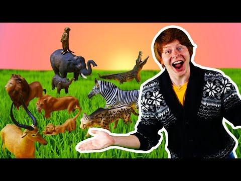 Видео игры для мальчиков. Животные Collecta в нашем замке! Веселое шоу Hey, Toys!