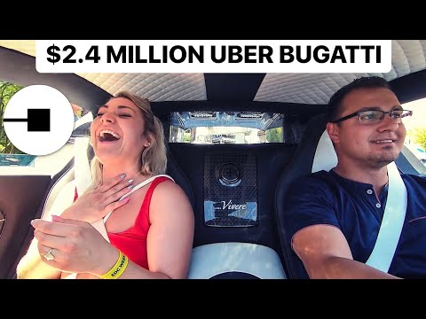 PICKING UP UBER RIDERS WITH BUGATTI ! *FUNNY REACTIONS*