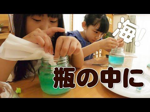 【小学生の自由研究】元気な妹とゆっくりな姉で水と油の実験