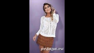 Летняя Кофточка Крючком - Филейное Вязание - 2018 / Summer Blouse Crochet Filleted Knitting
