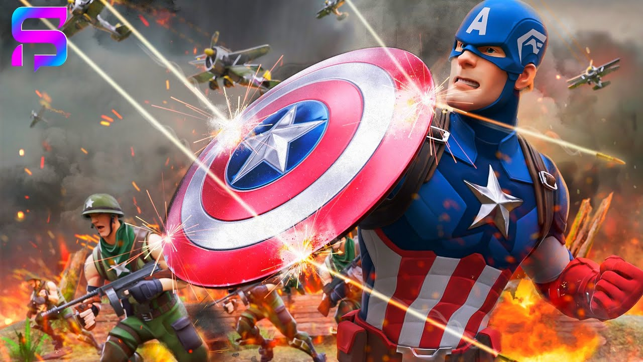 CAPTAIN AMERICA Origin Story.... ( Fortnite Film )
