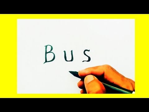 Wow Keren Huruf Bus Jadi Gambar Bus Dan Cara Belajar Mewarnai
