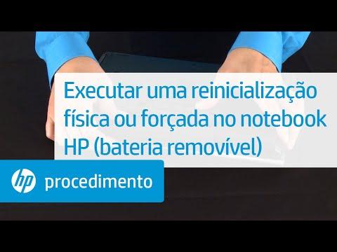 Executar uma reinicialização física ou forçada no notebook HP (bateria removível)