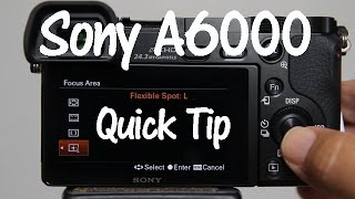A6000 Quick Tip - Adjust Flexible Spot Focus