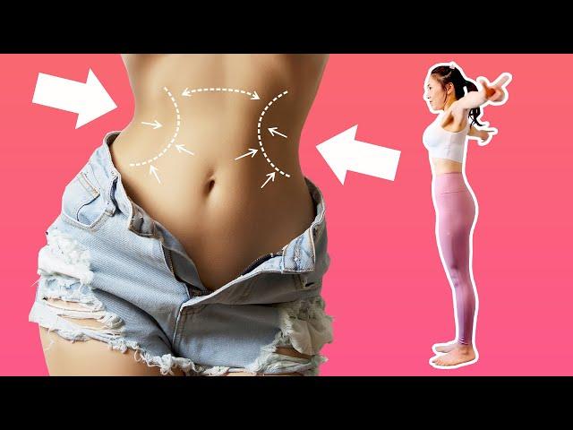 [1日1回] 立ち腹筋ストレッチで世界一簡単にお腹の脂肪を落とす(くびれ・メリハリ・お腹の厚みを薄くする・縦線)