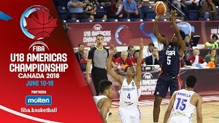 Dominican Republic v USA - Group Phase - Full Game - FIBA U18 Americas Championship 2018 - ENG