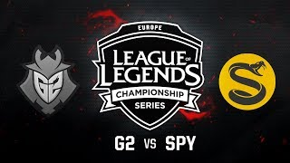 G2 Esports vs. Splyce - Quarterfinals Game 5 | EU LCS Summer Playoffs | G2 vs. SPY (2017)