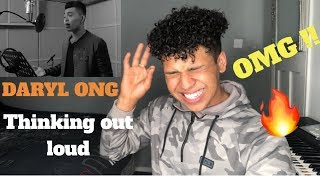 singer reaction to daryl ong thinking out loud my reaction