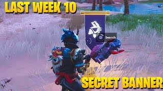 *NEW* SECRET BATTLE STAR WEEK 10 SEASON 6 LOCATION! FORTNITE SECRET BANNER