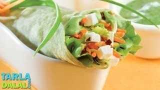 Herbed Cottage Cheese Wrap By Tarla Dalal