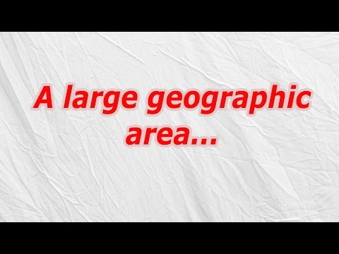 A large geographic area (CodyCross Answer/Cheat)