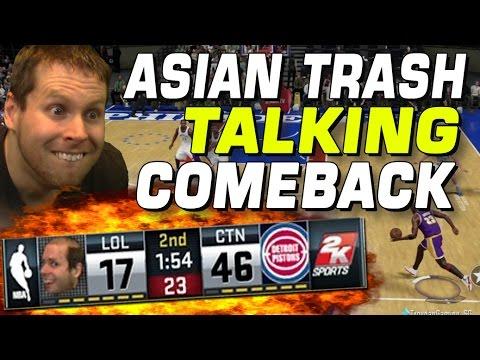 ASIAN TRASHTALKS ME..AMAZING COMEBACK!! MYTEAM NBA 2K16!!