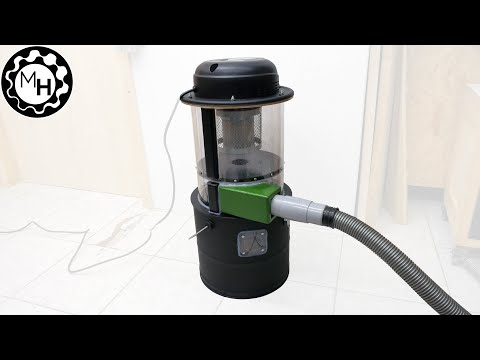 A small Cyclone Dust Collector with a Cheap Vacuum