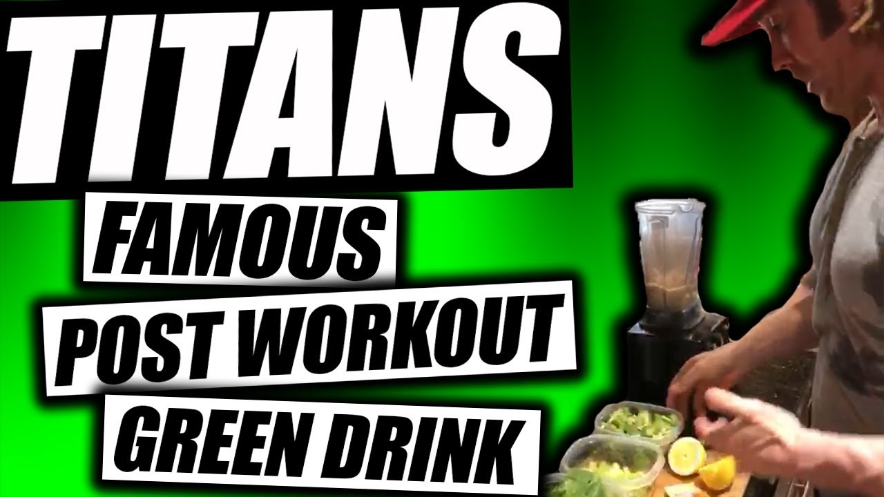 titans famous green drink post workout drink for energy more
