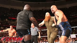 john cena big show mark henry vs the wyatt family raw aug 25 2014