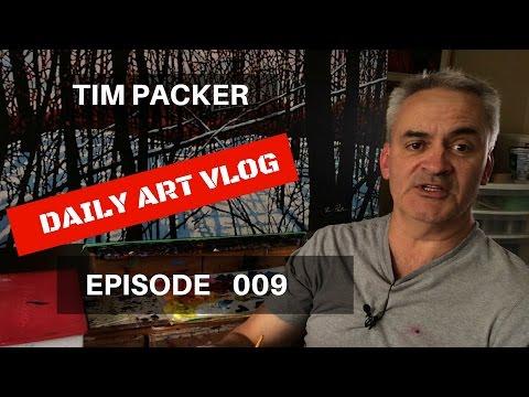 Brooke Wins An Award!  - Tim Packer Daily Art Vlog - Episode 009