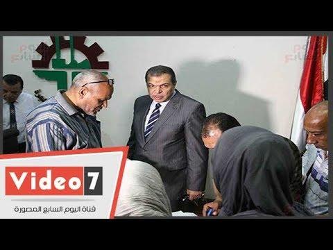 توافد العاملين لاختيار ممثليهم بانتخابات النقابات العمالية بلجان -القوى العاملة-  - 13:22-2018 / 5 / 23