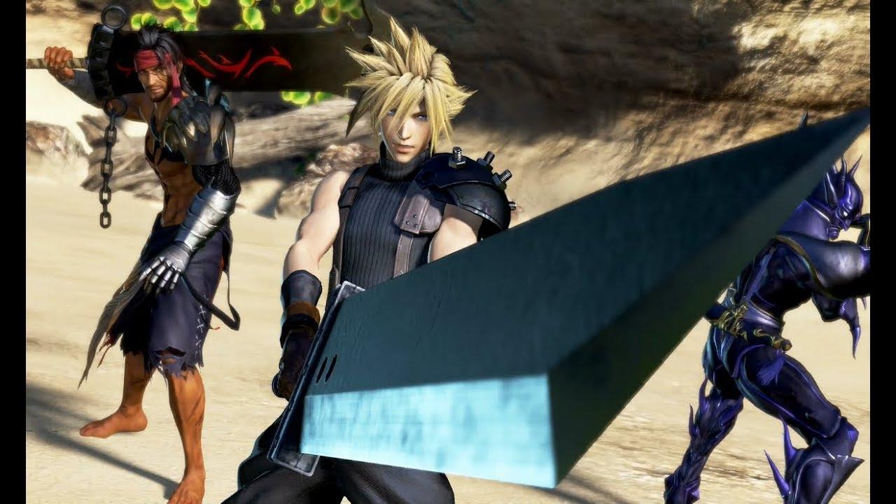Dissidia Final Fantasy NT Cloud Strife Gameplay - YouTube