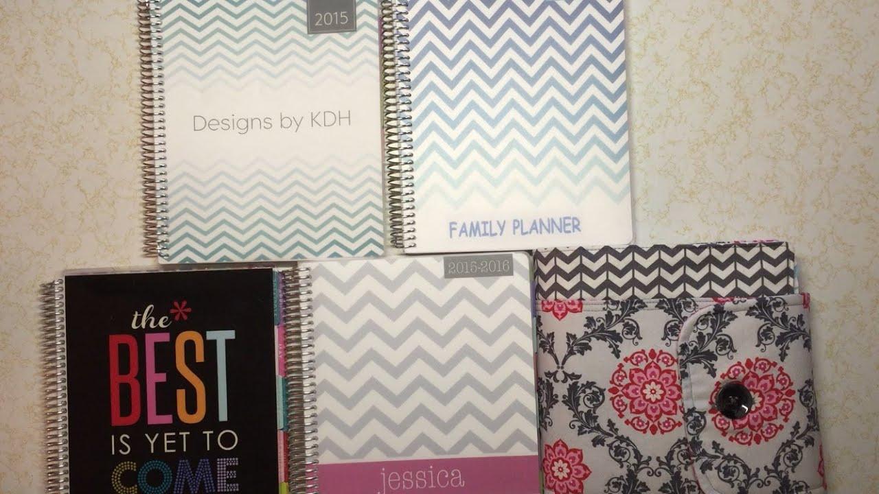 erin condren vs plum paper planner maeoption 3 linesfamily planner youtube