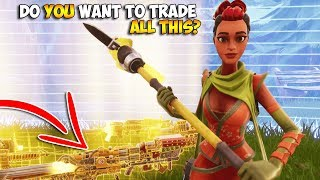I Said YES To EVERY TRADE in Fortnite Save The World... 😳