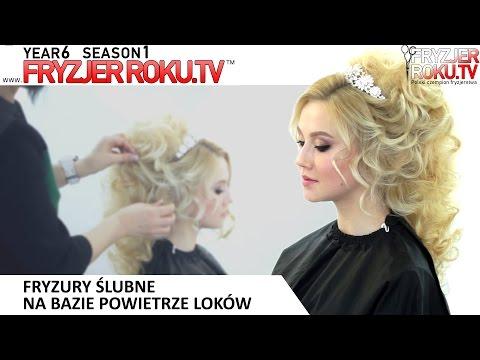 Fryzury ślubne Na Bazie Powietrze Loków. FryzjerRoku.tv