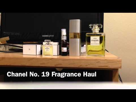 chanel no 19 fragrance haul youtube. Black Bedroom Furniture Sets. Home Design Ideas