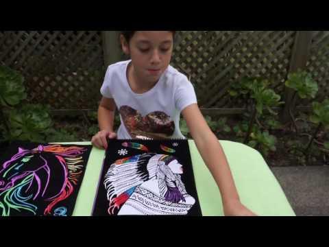 Children's Art and Crafts / Velvet Art Poster Book / Drawing for Kids