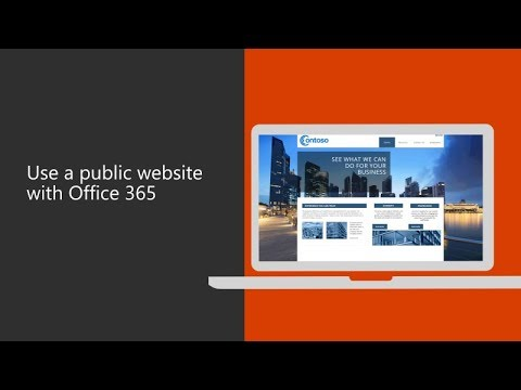 Use A Public Website With Office 365