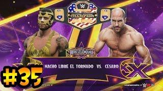 WWE 2K15 - Wrestlemania XXX - Lucha por el Campeonato de los Estados Unidos - Nacho Libre Vs Cesaro