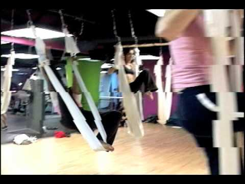 Anti Gravity Yoga at Crunch in Hollywood