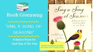 Sing A Song Of Seasons - A Poem For Each Day of the Year- Book Giveaway