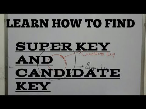 LEARN How (4 lecture) to find super key and candidate key of functional dependency   DBMS