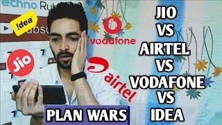 Jio 303 Vs Airtel 349 Vs Vodafone 346 Vs Idea 348 - Plan Comparision