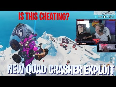 Tfue Uses *NEW* Quad Crasher EXPLOIT To Avoid Death! - Fortnite Best and Funny Moments