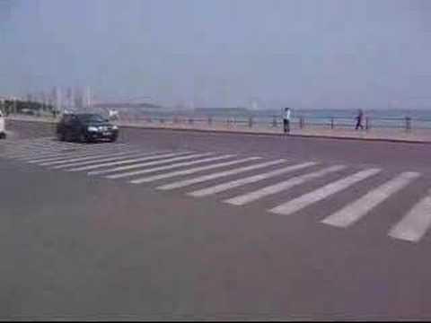 Car drift in Qingdao China
