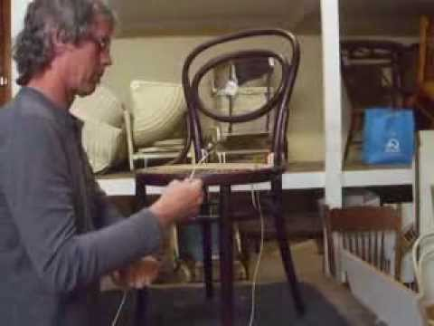 How To: Hand Weave A Bentwood Chair Seat