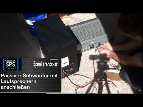 Passiver Subwoofer mit Lautsprechern anschließen