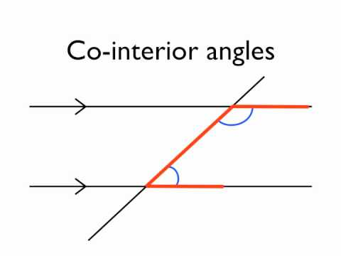 Angles In Parallel Lines  Co Interior Angles