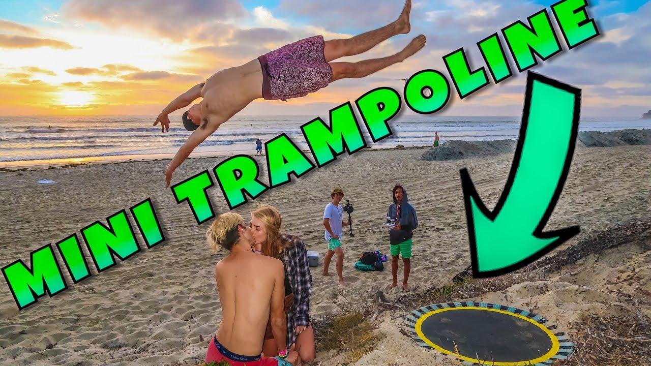 Trampoline Beach Tricks