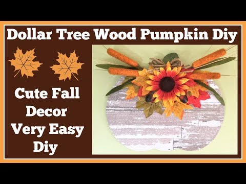 Dollar Tree Wood Pumpkin 🎃 Diy So Cute and Easy to Make