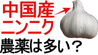 中国産ニンニクはどれくらい農薬に汚染されているのか thumbnail