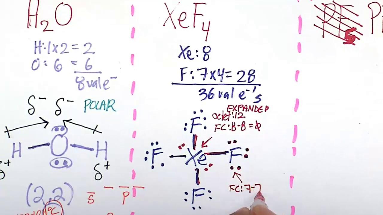 The 3 D Structure Of Xenon Tetrafluoride Xef4 Youtube