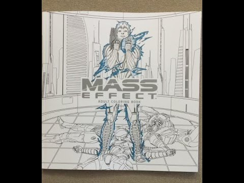 Mass Effect Adult Coloring Book Flip Through