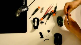 Microsoft Wireless Mobile Mouse 4000 Model 1383 disassembly, repair, cleaning (M4000)
